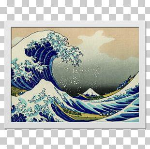 The Great Wave Off Kanagawa Printmaking Wind Wave Canvas Print PNG