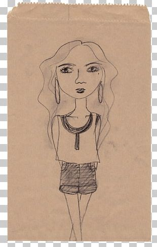 Paper Costume Design Portrait Sketch PNG