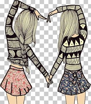 Best Friends Forever Friendship Drawing Love PNG
