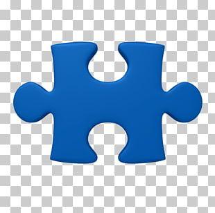 Blue Puzzle Piece PNG