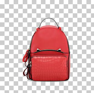 Handbag Red Backpack PNG
