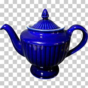 Teapot Kettle Cobalt Blue Ceramic PNG