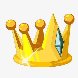 Golden Emerald Crown PNG