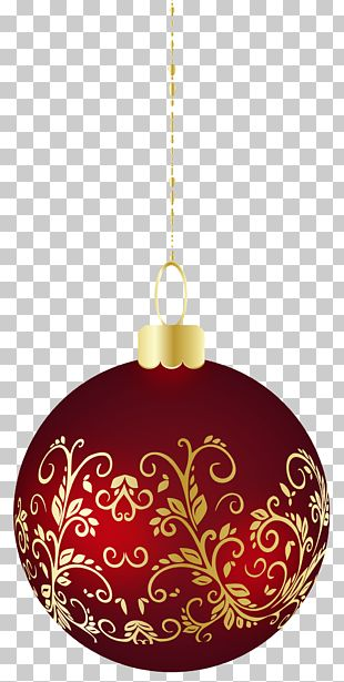Large Transparent Christmas Ball Ornament PNG
