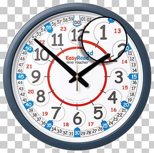 EasyRead Time Teacher Children's Wall Clock With Simple 3 Step 24 Hour Rainbow Face Wall Clock By EasyRead Time Teacher EasyRead Time Teacher Children's Wall Clock With Simple 3-Step PNG