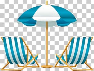 Beach Chair Umbrella PNG