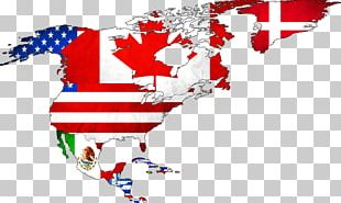 Flag Of The United States World Flags Of North America Map PNG