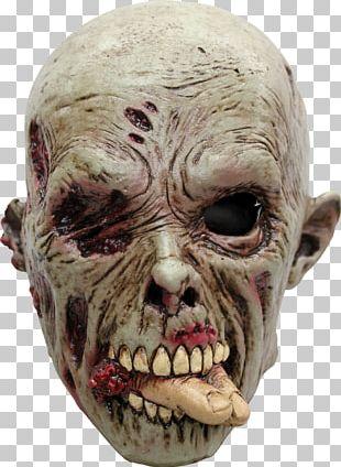 Latex Mask Halloween Costume Flesheater PNG