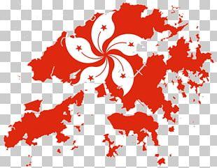 Flag Of Hong Kong Blank Map PNG