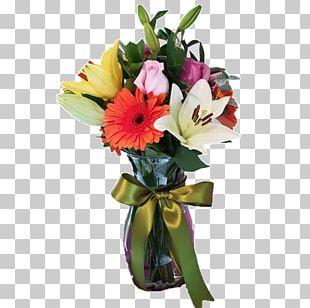 Floral Design Vase Cut Flowers Flower Bouquet Rose PNG