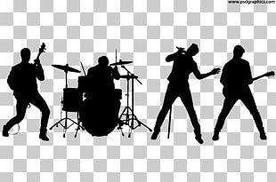 Rock Band Silhouette Musical Ensemble PNG