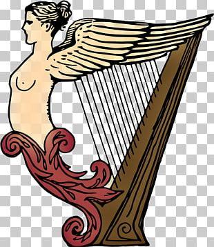 Celtic Harp Drawing Musical Instruments PNG