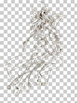 Costume Design Line Art Body Jewellery Sketch PNG