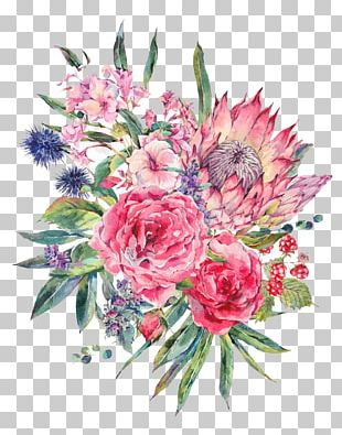 Floral Design Flower Bouquet Watercolor Painting Stock Illustration PNG