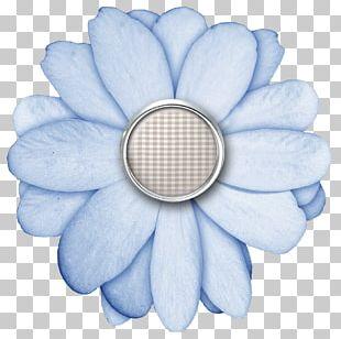 Flower Digital Scrapbooking Paper Button PNG