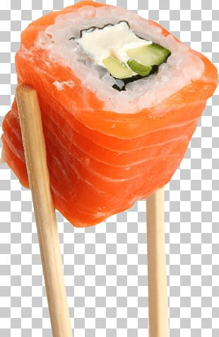 Salmon Roll Sushi On Sticks PNG