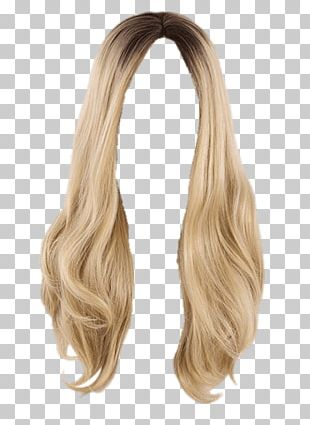 Wig Blond Long PNG