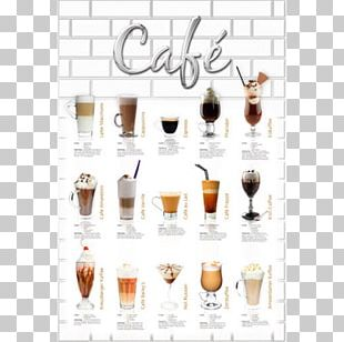 Iced Coffee Cafe Poster Street Art PNG