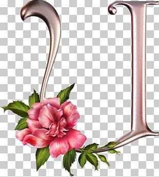 Letter Alphabet Flower Floral Design PNG