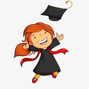 Graduation Girl Material PNG