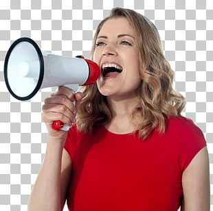 Megaphone Stock Photography Woman PNG