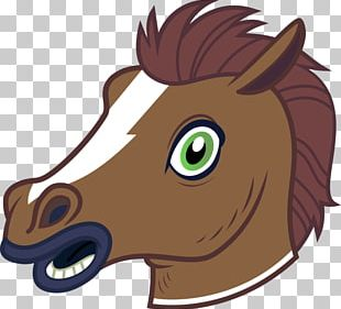 Pony Horse Head Mask Stallion Clydesdale Horse PNG