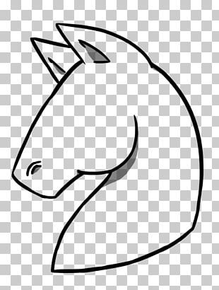 Horse Line Art Drawing Stallion Painting PNG