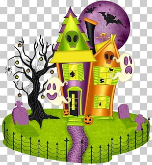 Haunted House Haunted Halloween House Open PNG