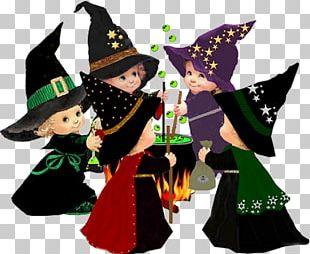 Halloween Witchcraft Boszorkány Cartoon PNG