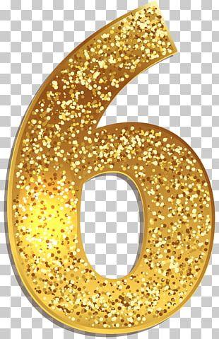 Gold Number Symbol PNG