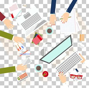 Meeting Business Flat Design Illustration PNG