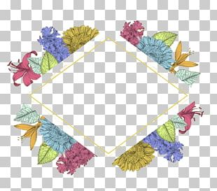 Watercolor Painting Flower Frame PNG
