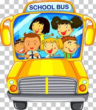 School Bus Bus Driver Illustration PNG