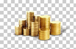 Gold Coin Money Piggy Bank PNG