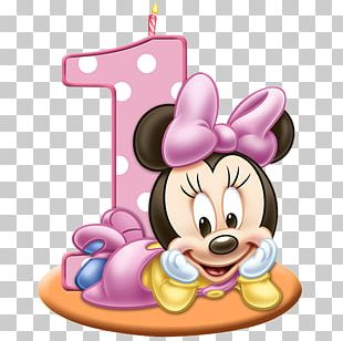 Minnie Mouse Birthday Cake Greeting & Note Cards PNG
