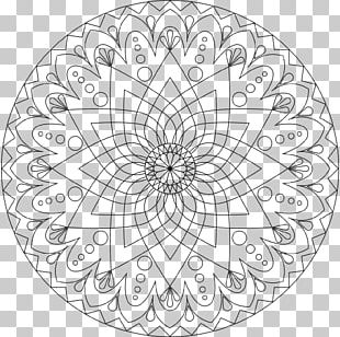 Mandala Coloring Book Child Meditation Adult PNG