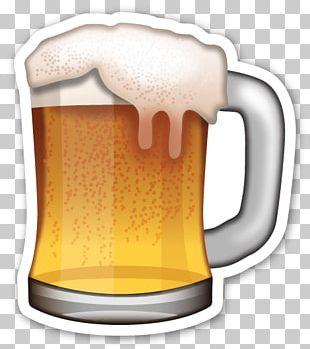 Beer Glasses Emoji Lager Sticker PNG