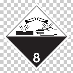 HAZMAT Class 8 Corrosive Substances Paper Dangerous Goods HAZMAT Class 9 Miscellaneous PNG