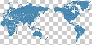 Pacific Ocean Globe World Map PNG