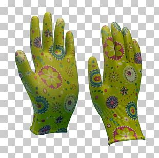 Nitrile Rubber Glove Spandex Coating PNG