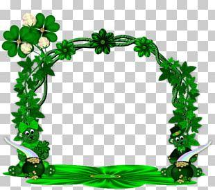 Saint Patrick's Day Paper Frames Shamrock PNG