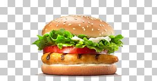 Hamburger Burger King Grilled Chicken Sandwiches Cheeseburger Barbecue PNG