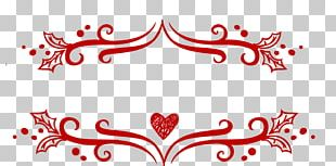 Christmas Decoration Red Lace Pattern PNG