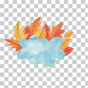 Autumn Leaf Watercolor Painting PNG