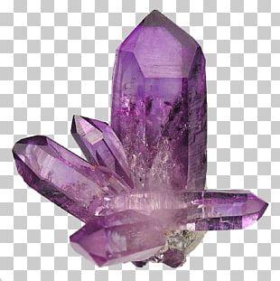 Amethyst Quartz Crystal Healing Gemstone PNG