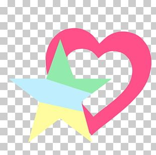 Line Pink M Heart Logo PNG