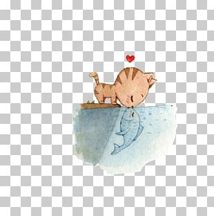Cat Kitten Puppy Dog Drawing PNG