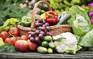 Organic Food Fruit Vegetable Basket PNG