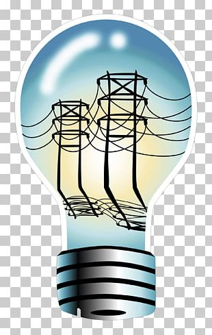 Incandescent Light Bulb Electric Power Wire PNG