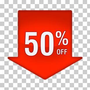 50% Discount Arrow PNG